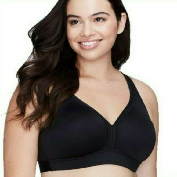 NWT LANE BRYANT SPORT BY CACIQUE FRONT CLOSE NO WIRE SPORTS BRA SZ 42D